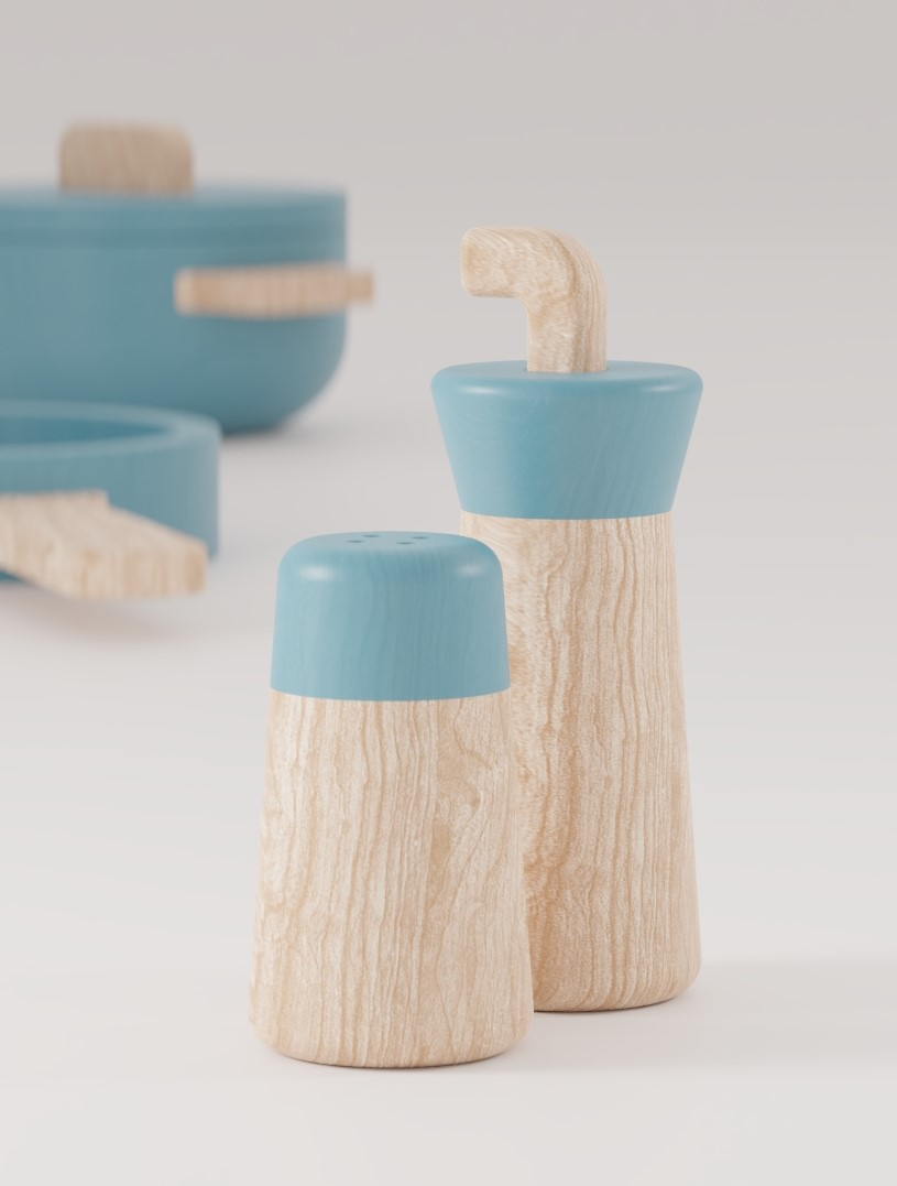 COOKING PLAYSET Wooden Toys by ALOS. Product Design Studio.