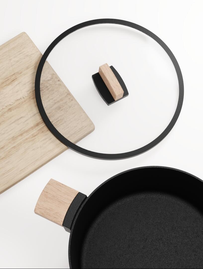 KAPPO Cast Iron Cookware by ALOS. Product Design Studio.
