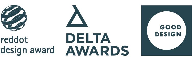 reddot design award · DELTA AWARDS · GOOD DESIGN · ALOS. Product Design Studio.