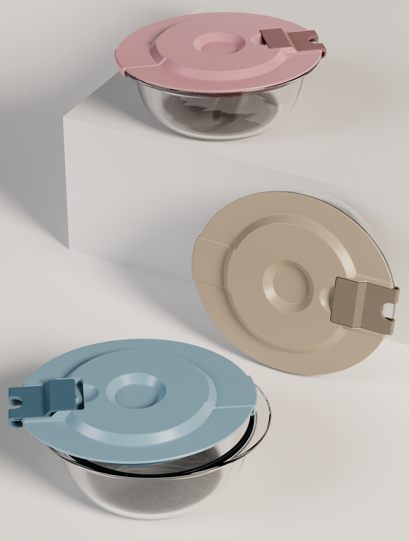 SLIDE & LOCK Food container by ALOS. Product Design Studio.