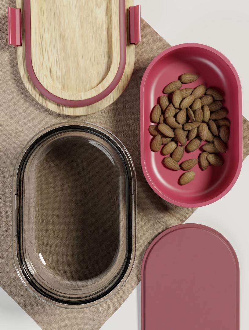 YOGHURT AND BITES Yoghurt carrier by ALOS. Product Design Studio.